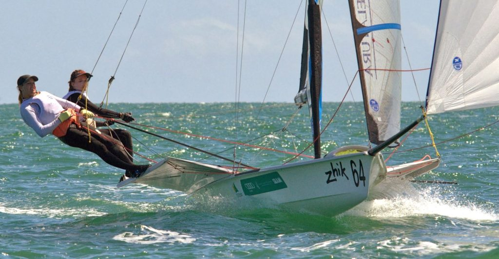 Michelle 49er racing