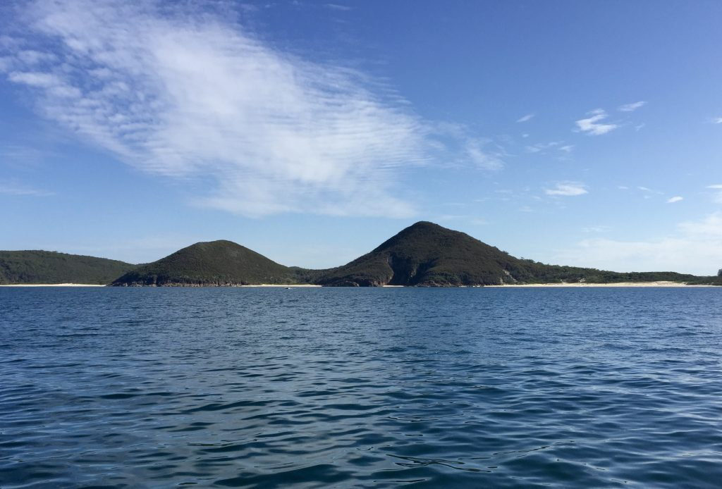 Approaching Port Stephens