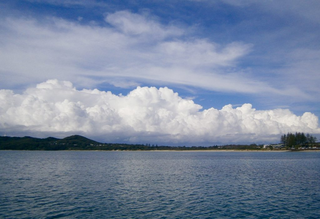 Clouds rolling in over Byron Bay