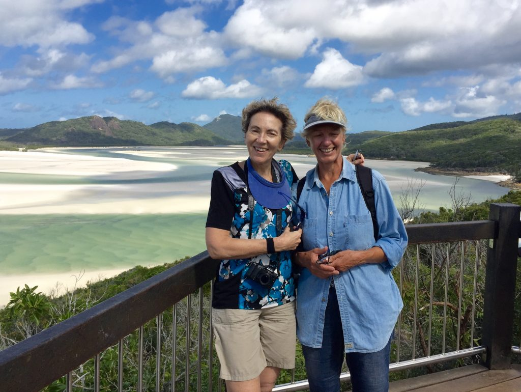 Mary and Annie at Whitehaven beach