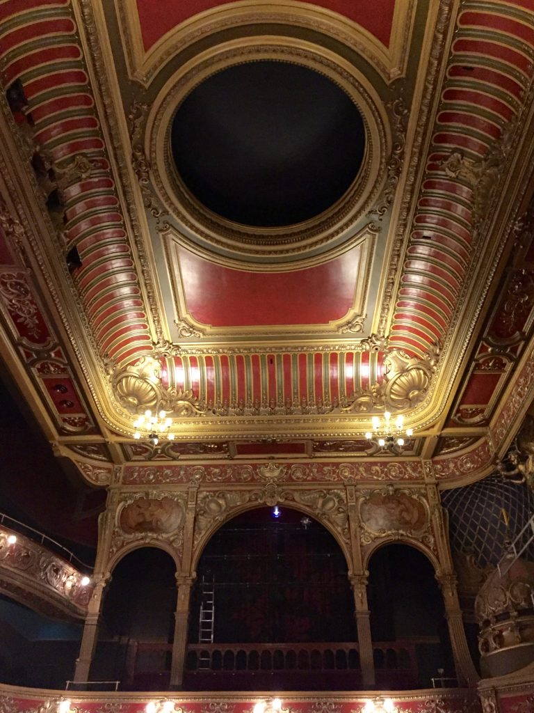 Ceiling detail in the beautiful Hackney Empire theatre.