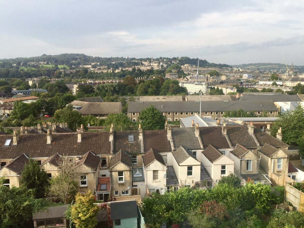 View of Bath from our room at Nick and Madeleine's.