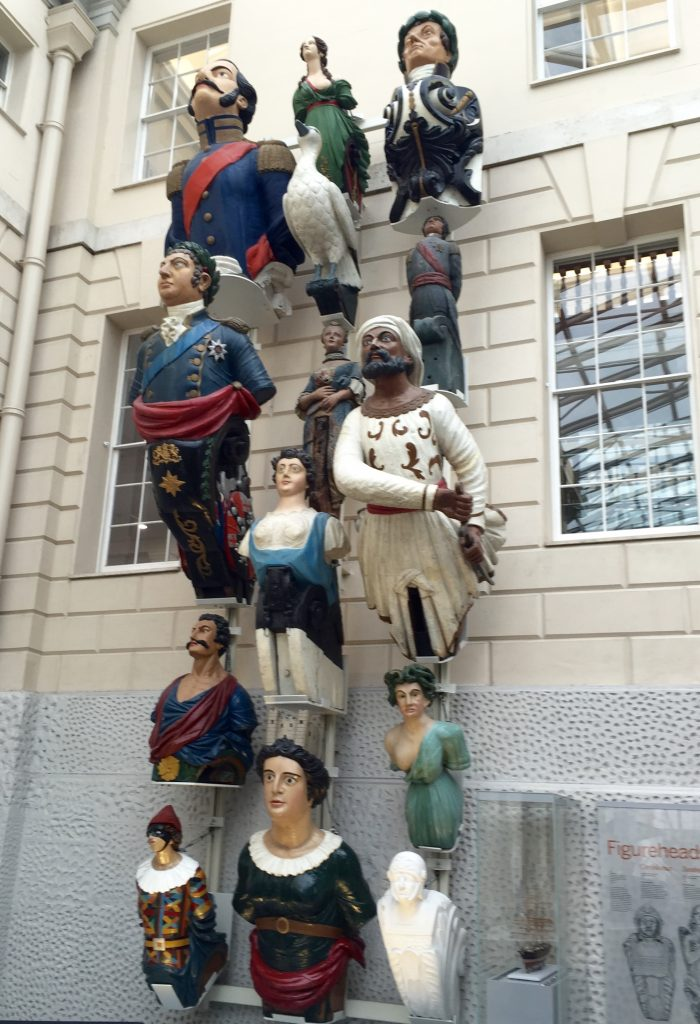 Figureheads at the National Maritime Museum.
