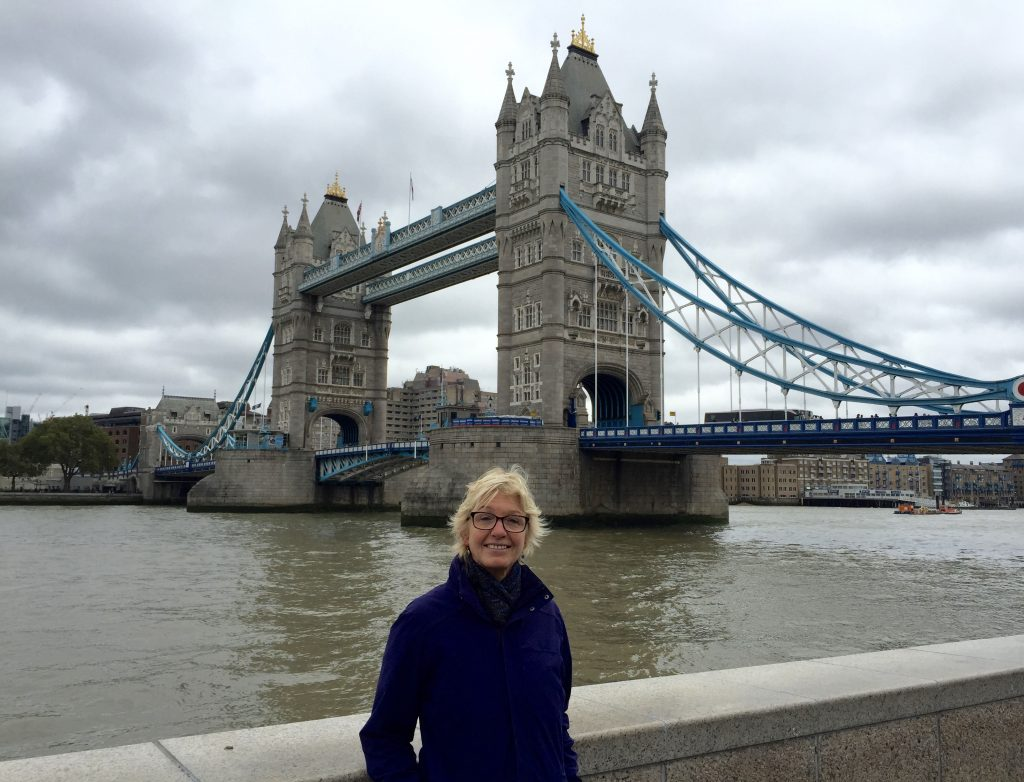 Annie and the Tower bridge.