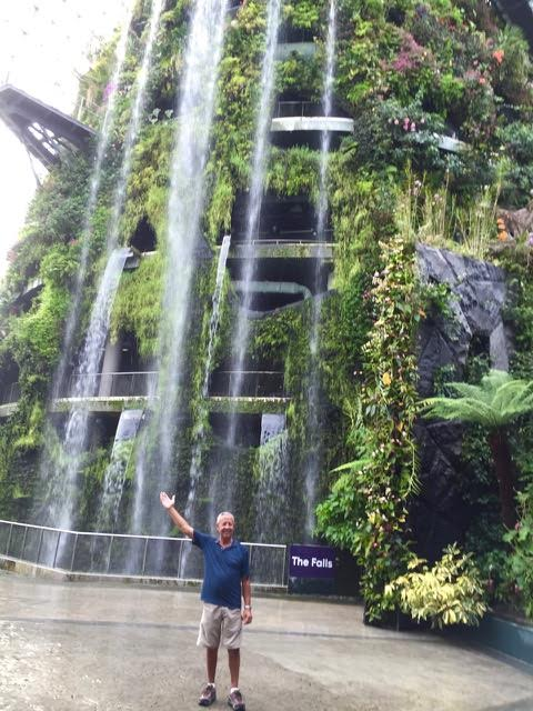 Seven story waterfall inside the cloud forest.