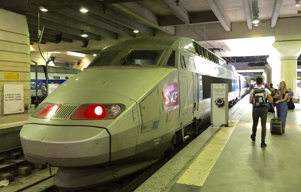 Train spotting: The TGV beast.
