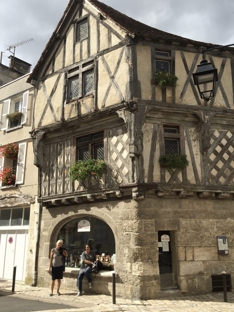 The oldest house in town - now a Cognac tasting centre.