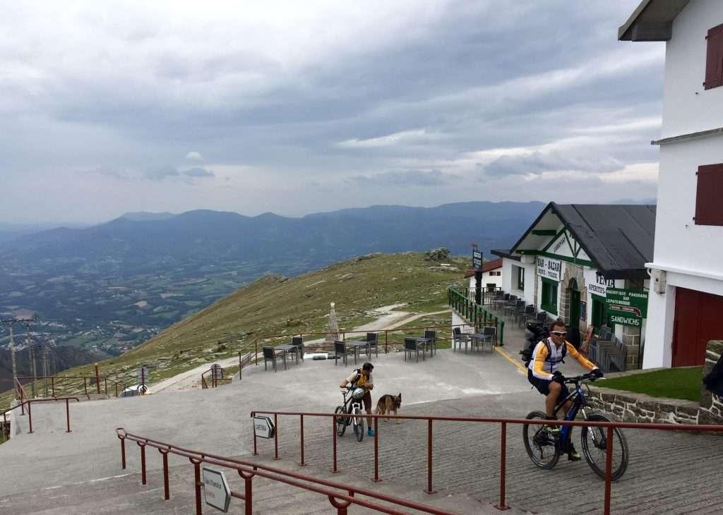 Crazy mountain bikers.