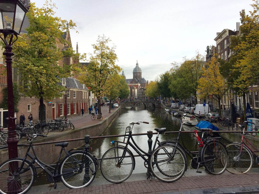 Typical Amsterdam canal.