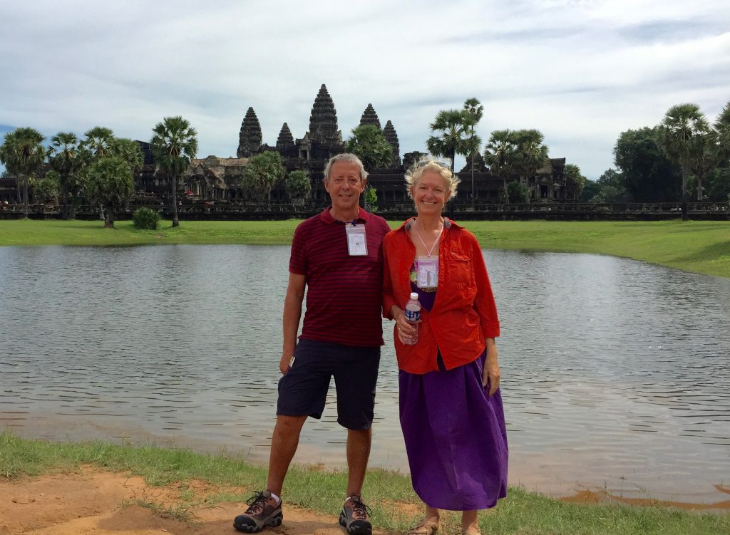 Picture postcard shot of Angkor Wat.