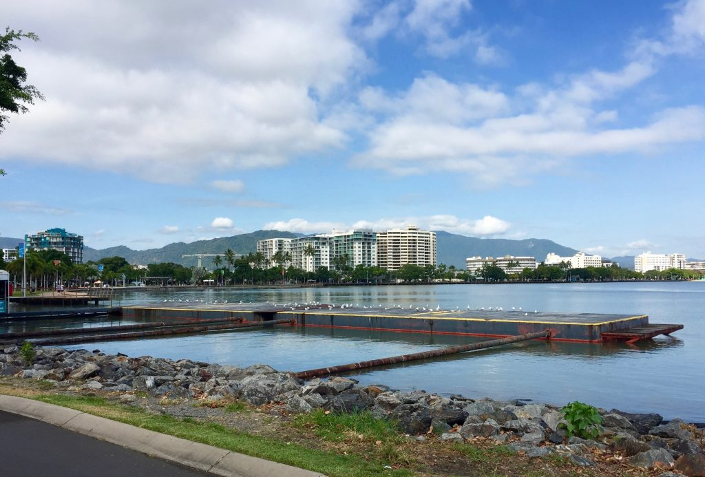 View of Cairns from the marina.