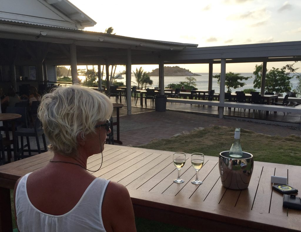 Sundowners at the Marlin Bar.