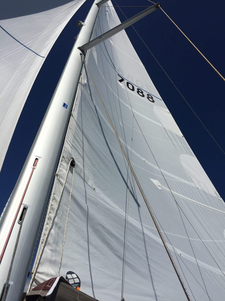 The mainsail.